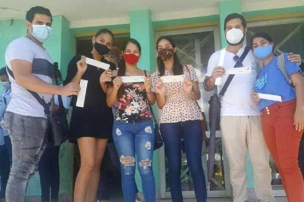 Jóvenes participantes en los ensayos clínicos del candidato vacunal Abdala - Sputnik Mundo