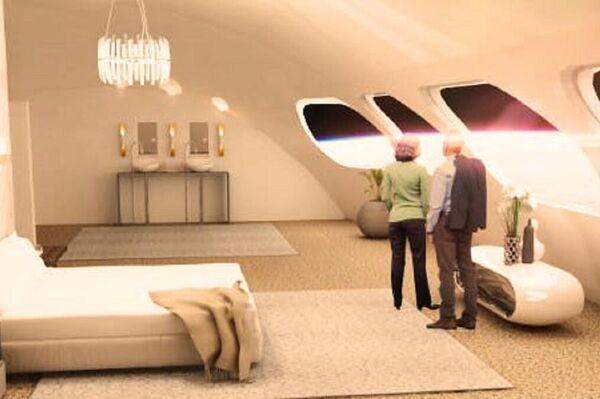 Un apartamento de lujo del hotel espacial Voyager Station - Sputnik Mundo
