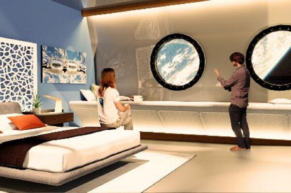 Un confortable suite del hotel espacial Voyager Station - Sputnik Mundo