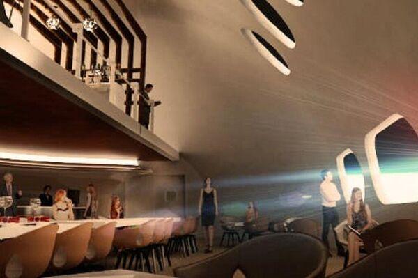 Un restaurante del hotel Voyager Station que ofrece comida espacial - Sputnik Mundo