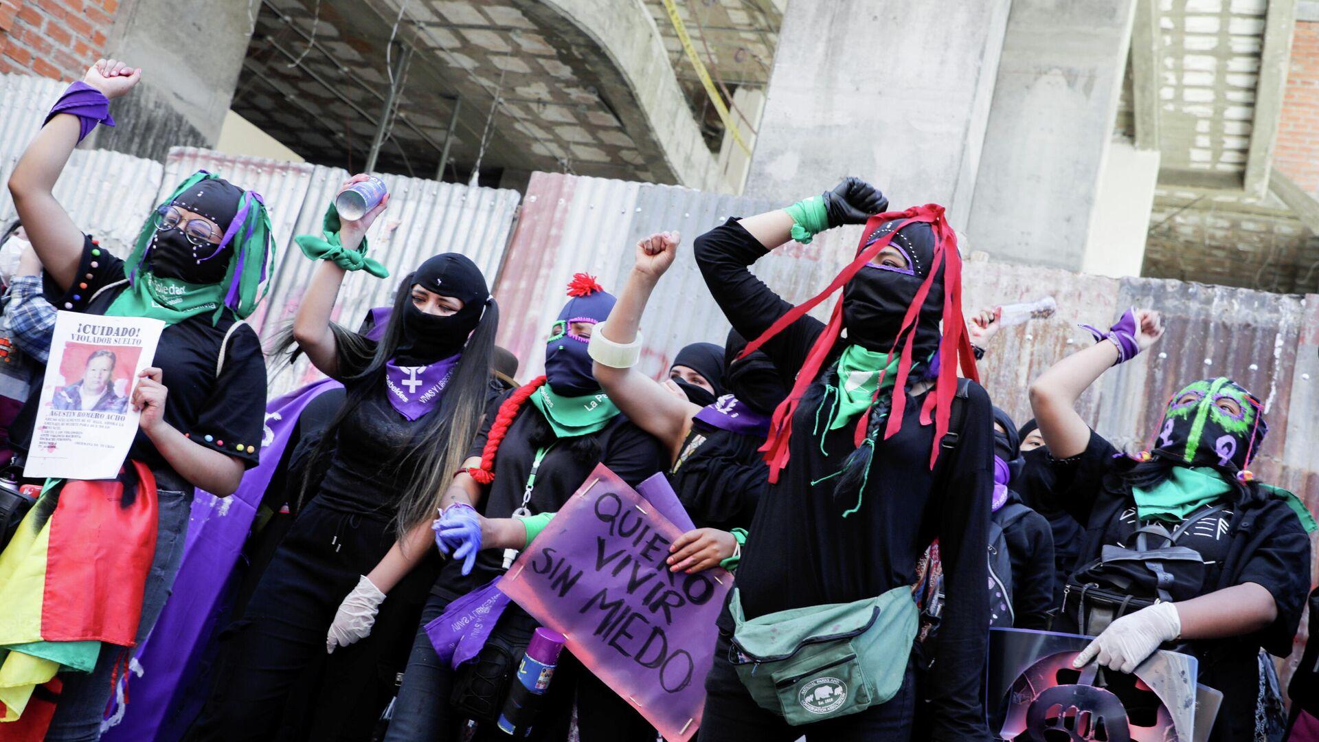 Marcha de las mujeres en Bolivia - Sputnik Mundo, 1920, 08.03.2021