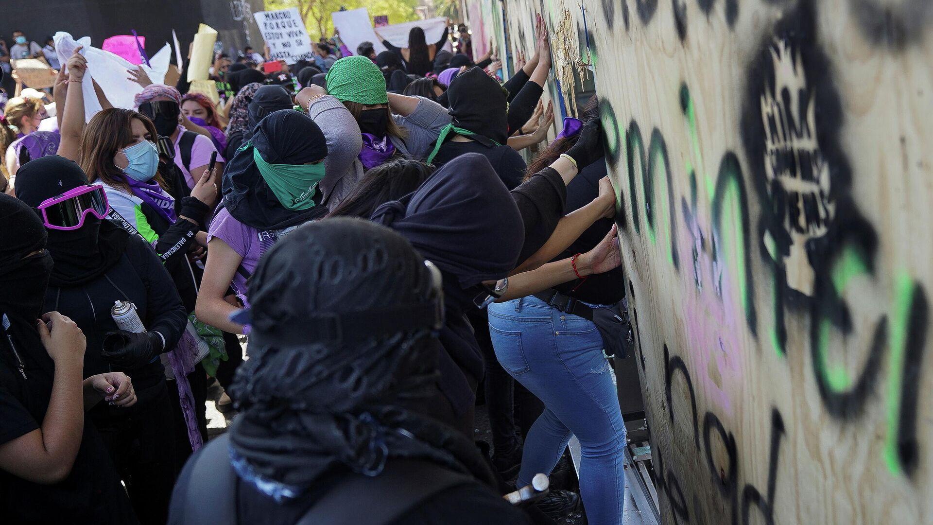 Protestas feministas en la Ciudad de México en el Día Internacional de la Mujer - Sputnik Mundo, 1920, 02.04.2021