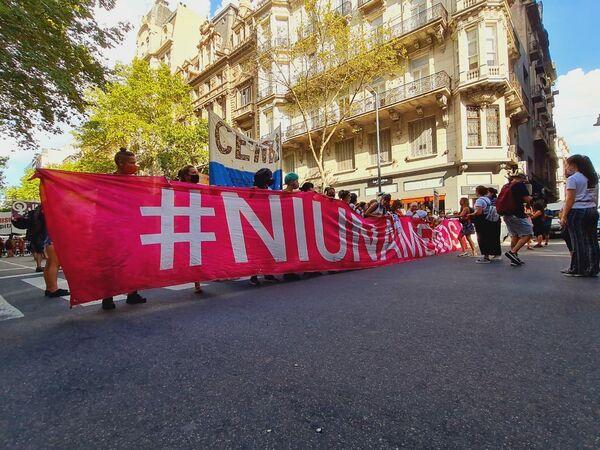 El colectivo de activistas feministas Ni Una Menos convocó a reunirse en el Congreso de la Nación a las 17 horas. - Sputnik Mundo