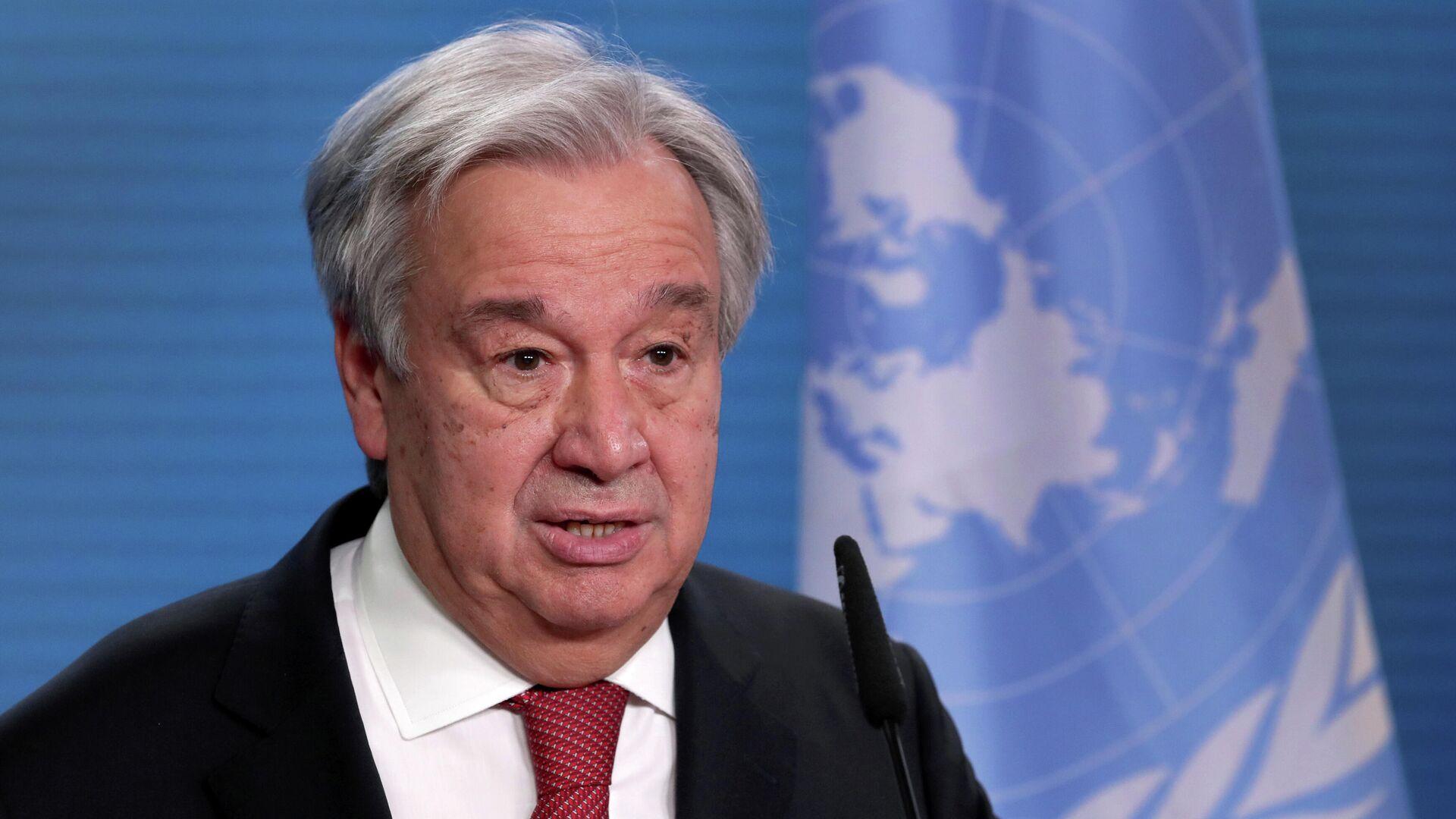 António Guterres, secretario general de la ONU - Sputnik Mundo, 1920, 06.04.2021