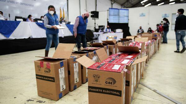 Eleccioners presidenciale en Ecuador - Sputnik Mundo