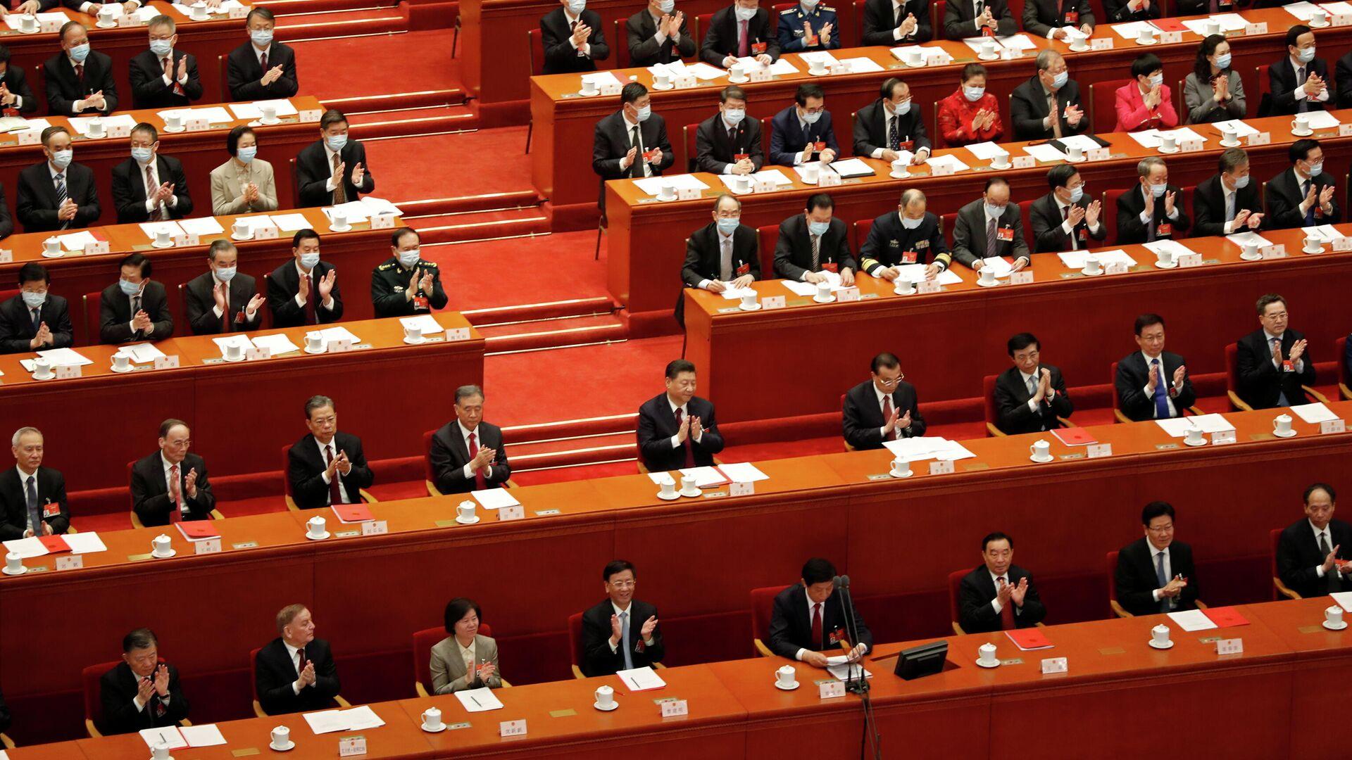 Una sesión de Asamblea Popular Nacional de China - Sputnik Mundo, 1920, 11.03.2021