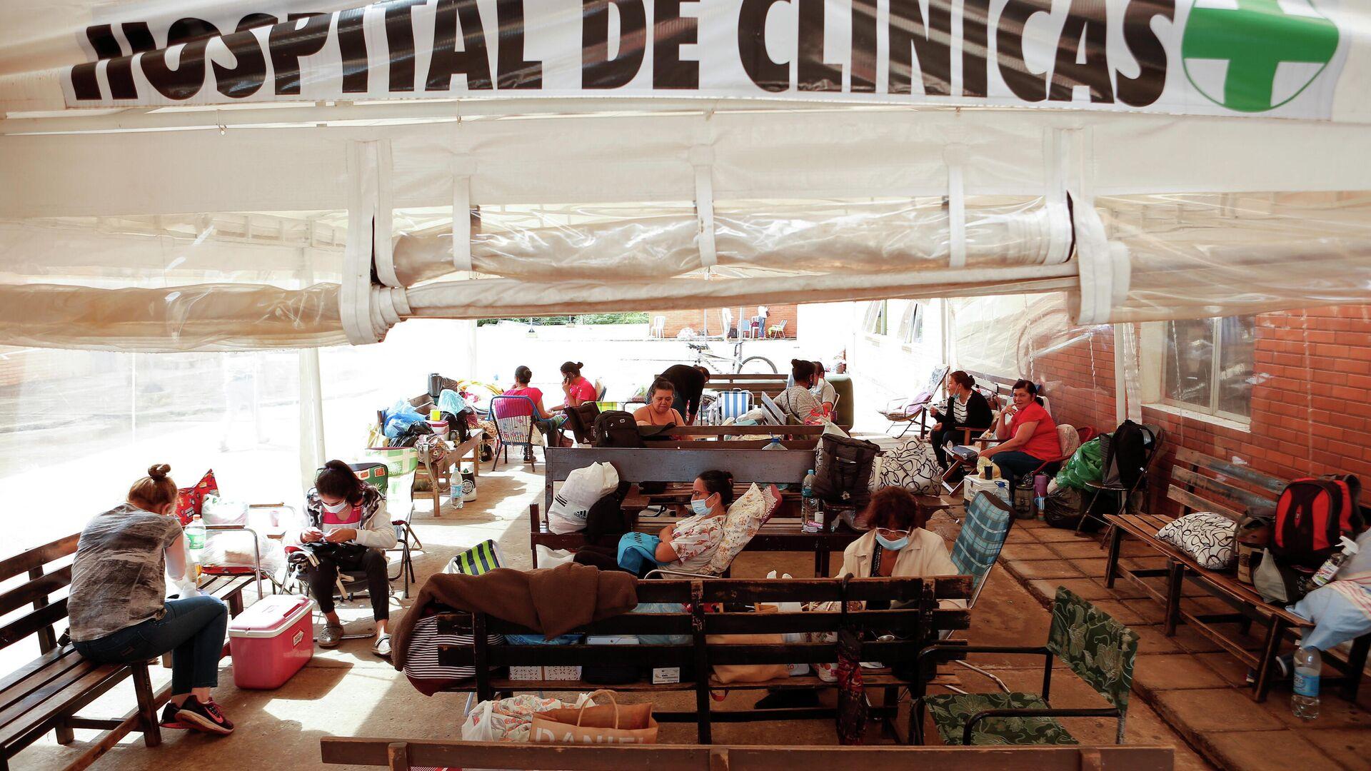 Pacientes con COVID-19 en el Hospital de Clinicas en San Lorenzo, Paraguay - Sputnik Mundo, 1920, 11.03.2021