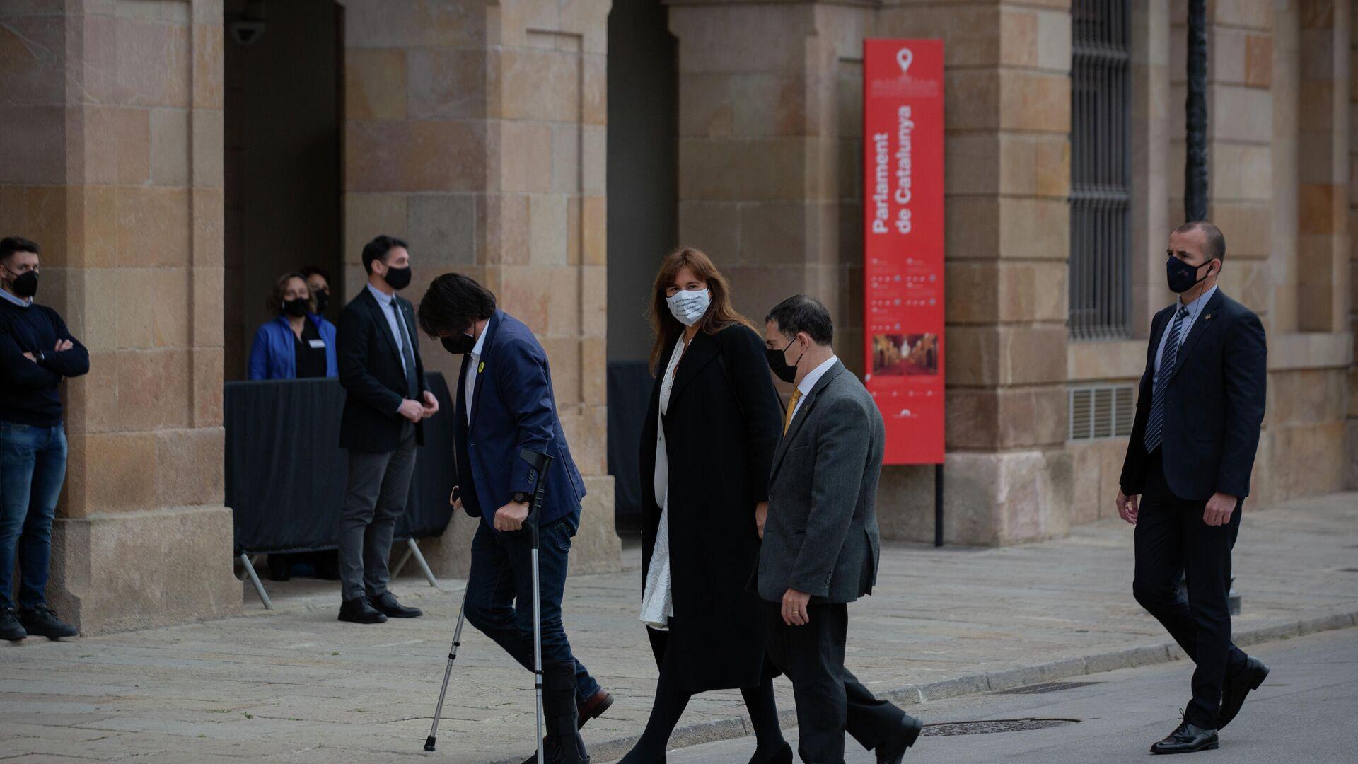 Laura Borràs a su llegada al Auditorio del Parlamento de Cataluña - Sputnik Mundo, 1920, 12.03.2021