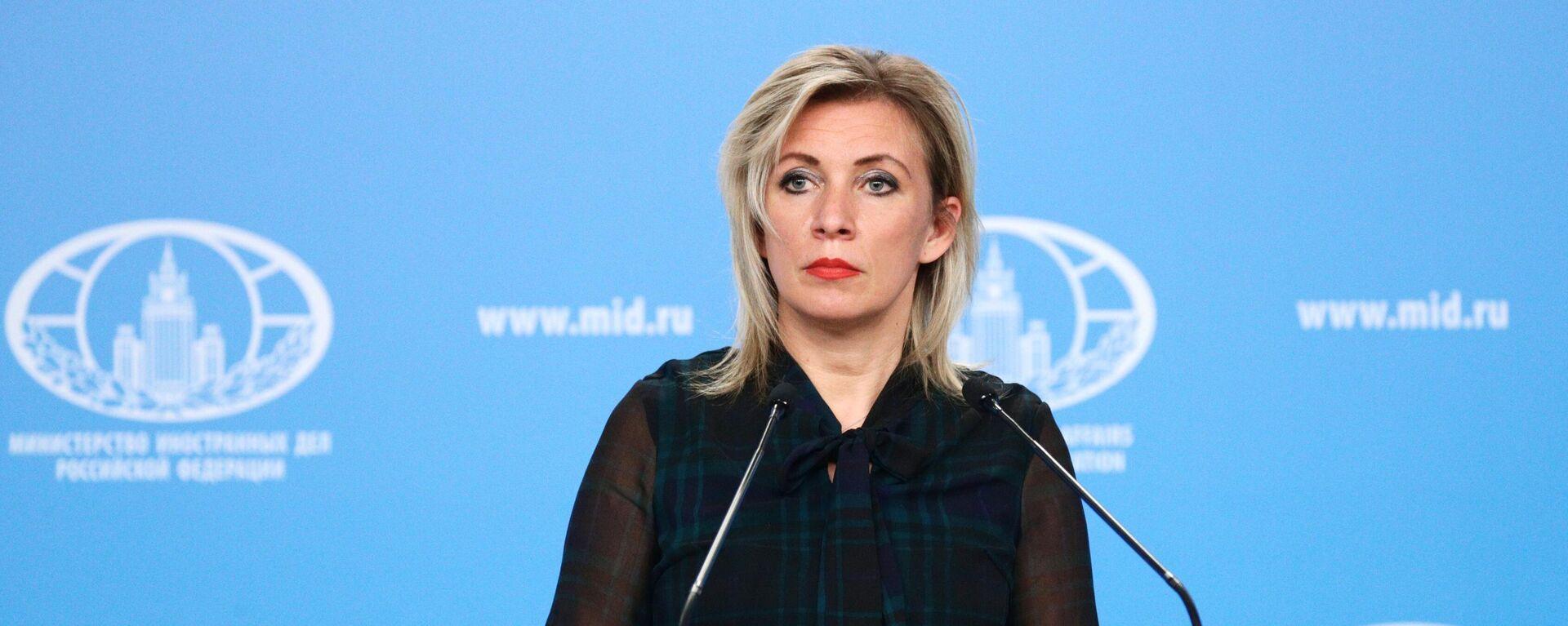 María Zajárova, portavoz del Ministerio de Asuntos Exteriores de Rusia - Sputnik Mundo, 1920, 24.05.2021