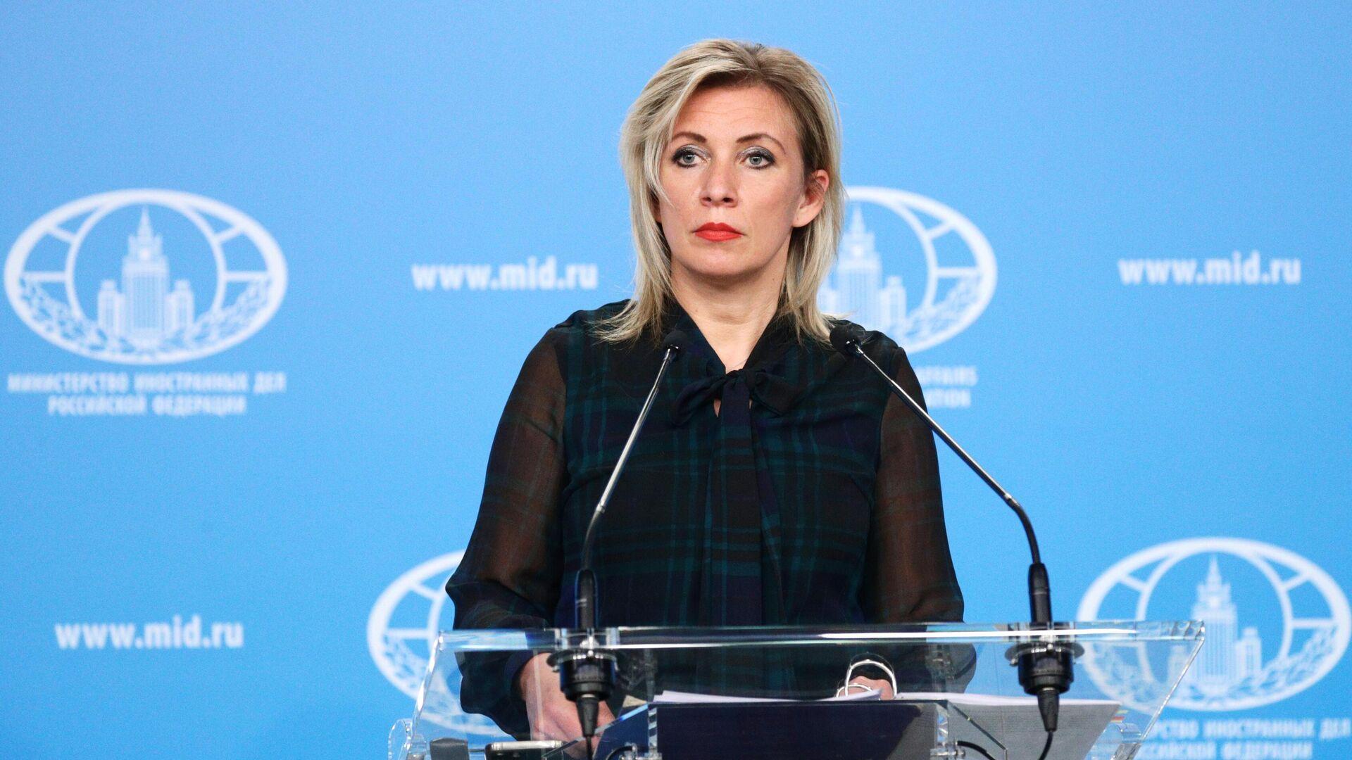 María Zajárova, la portavoz del Ministerio de Exteriores ruso - Sputnik Mundo, 1920, 13.03.2021