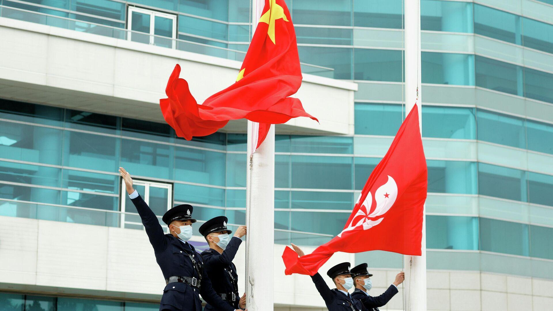 Las banderas de China y Hong Kong - Sputnik Mundo, 1920, 15.03.2021