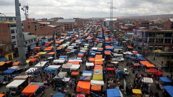 Un mercado en El Alto, Bolivia - Sputnik Mundo