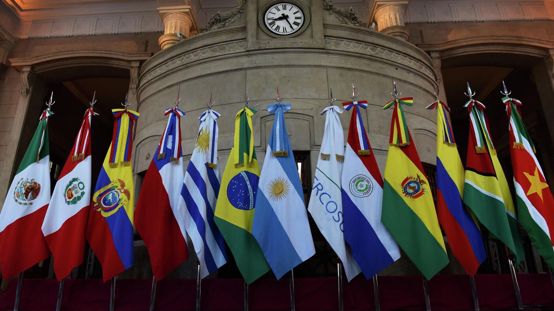 Banderas de miembros del Mercosur y Estados asociados - Sputnik Mundo, 1920, 16.03.2021