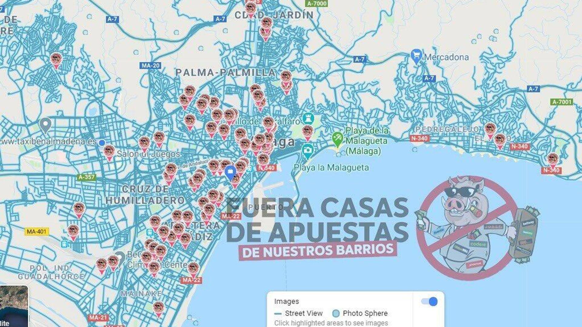 Localización de casas de apuestas en Málaga - Sputnik Mundo, 1920, 17.03.2021