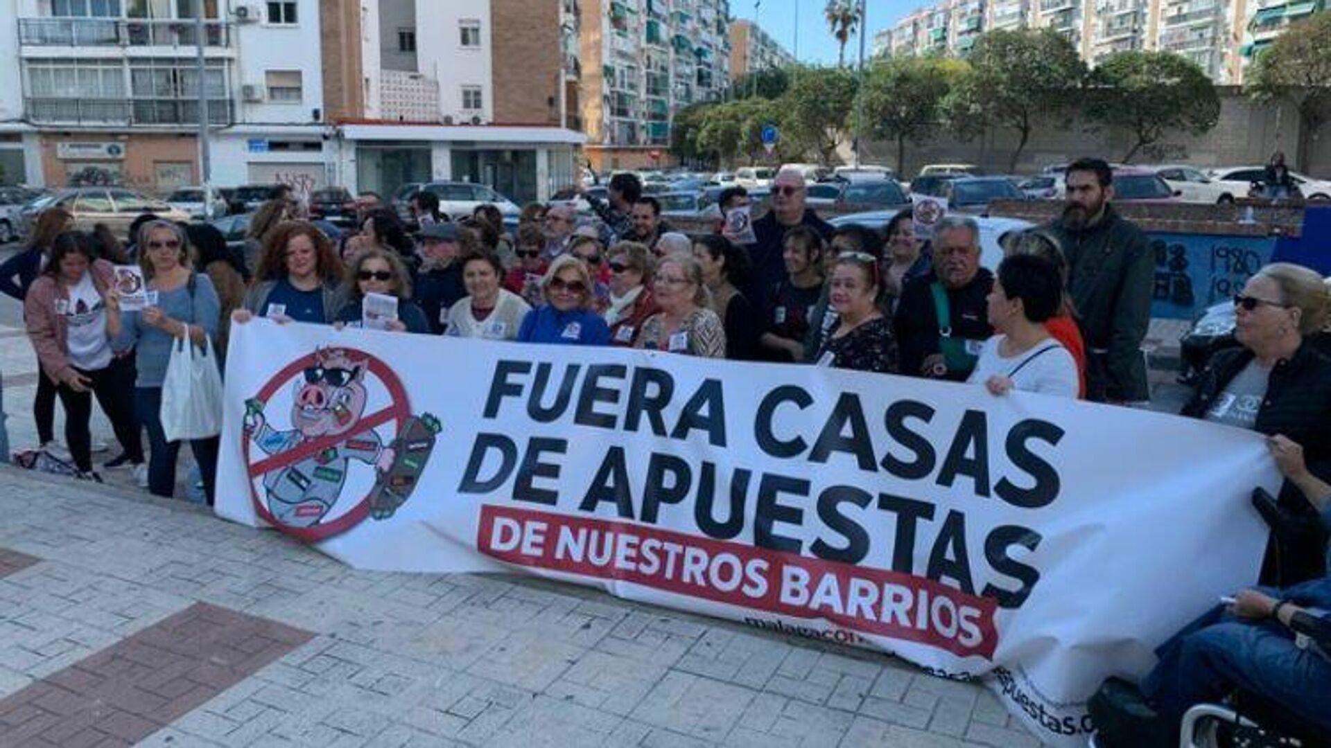 Concentraciones en Málaga contra nuevas casas de juego  - Sputnik Mundo, 1920, 17.03.2021