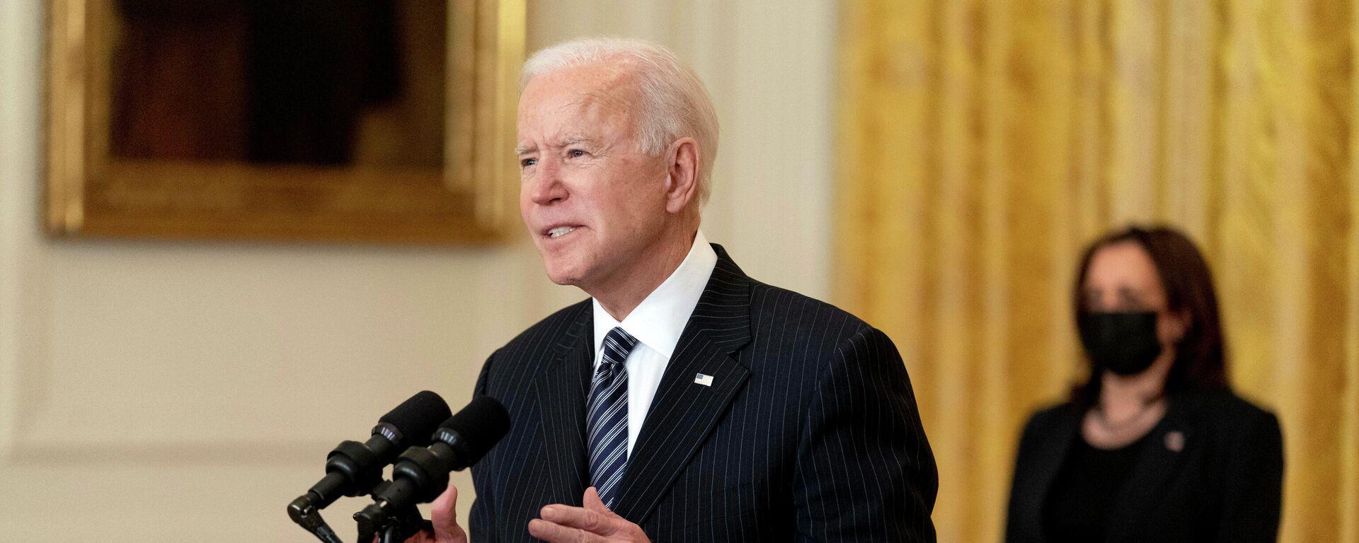 Joe Biden, presidente de EEUU, y Kamala Harris, vicepresidenta (archivo) - Sputnik Mundo, 1920, 06.08.2021