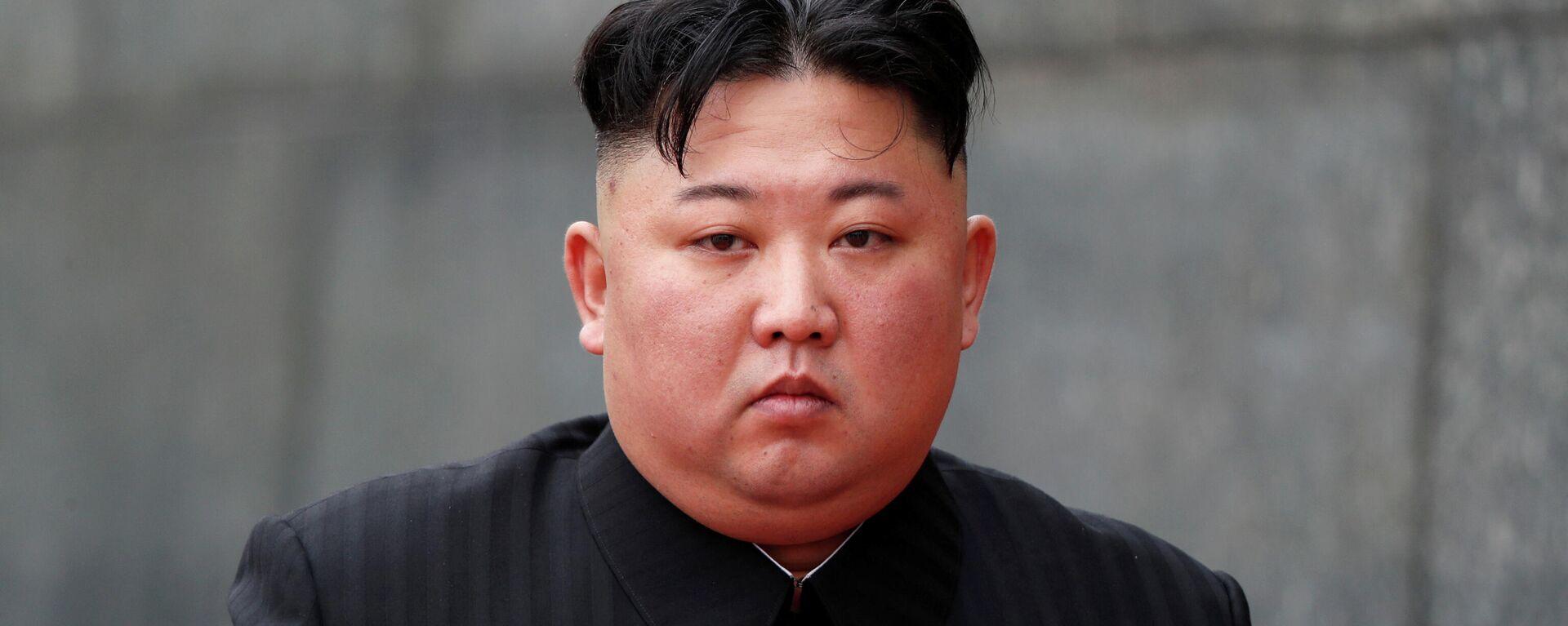 Kim Jong-un, líder de Corea del Norte (foto de archivo) - Sputnik Mundo, 1920, 07.04.2021