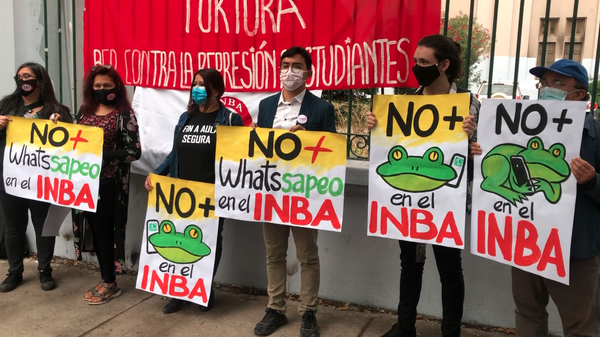 Manifestación frente al INBA - Sputnik Mundo