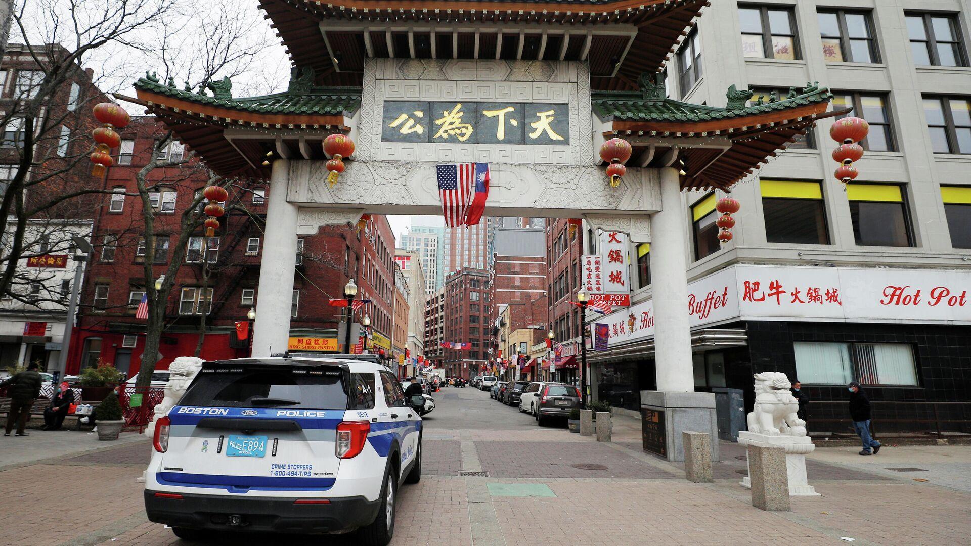 La Policía de Boston patrullando en 'Chinatown', EEUU - Sputnik Mundo, 1920, 20.03.2021