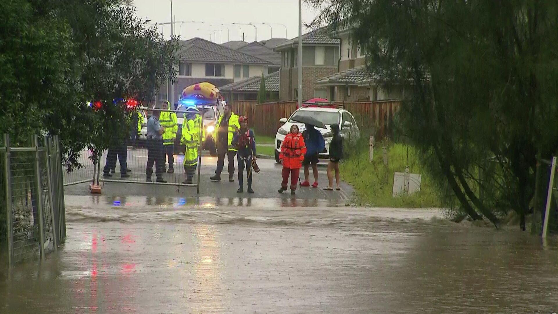 Los equipos de rescate operando en la zona de inundación, el 20 de marzo de 2021, Australia  - Sputnik Mundo, 1920, 20.03.2021