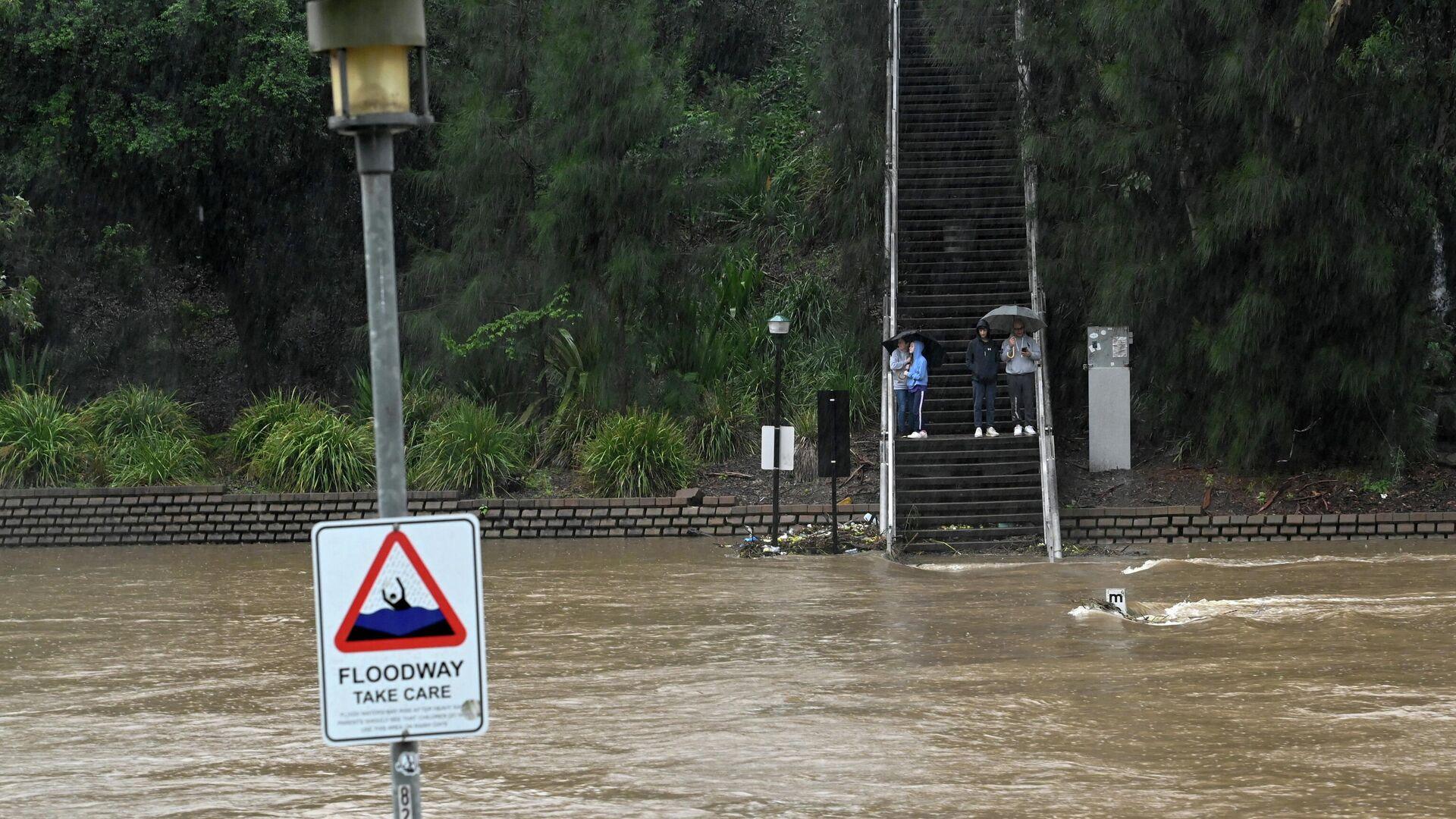 Inundación provocada por fuertes lluvias en Australia, el 20 de marzo de 2021 - Sputnik Mundo, 1920, 20.03.2021