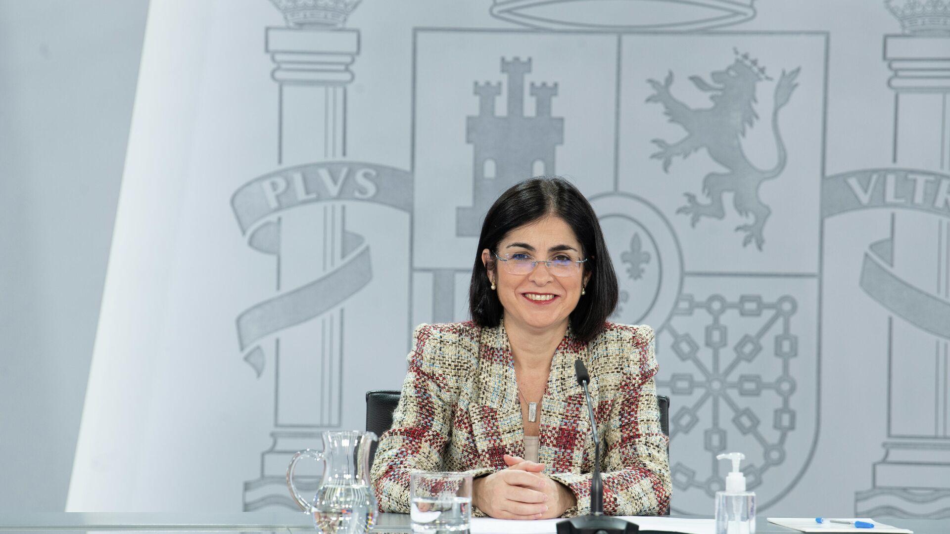 La ministra de Sanidad, Carolina Darias, en la rueda de prensa del Consejo Interterritorial del Sistema Nacional de Salud del 18 de marzo del 2021 - Sputnik Mundo, 1920, 14.04.2021