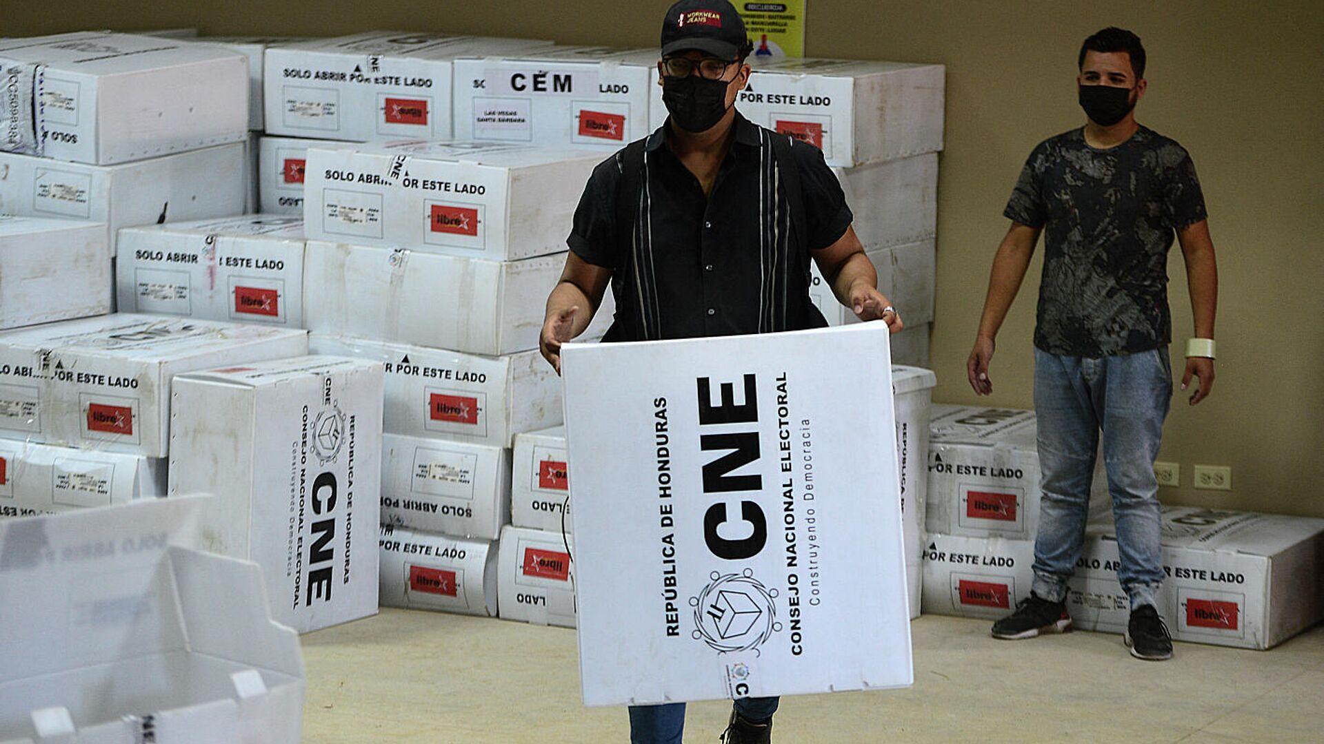 Escrutinio de los votos en las elecciones primarias de Honduras - Sputnik Mundo, 1920, 22.03.2021