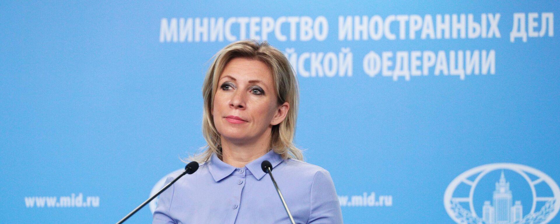María Zajárova, portavoz del Ministerio de Exteriores ruso - Sputnik Mundo, 1920, 26.04.2021