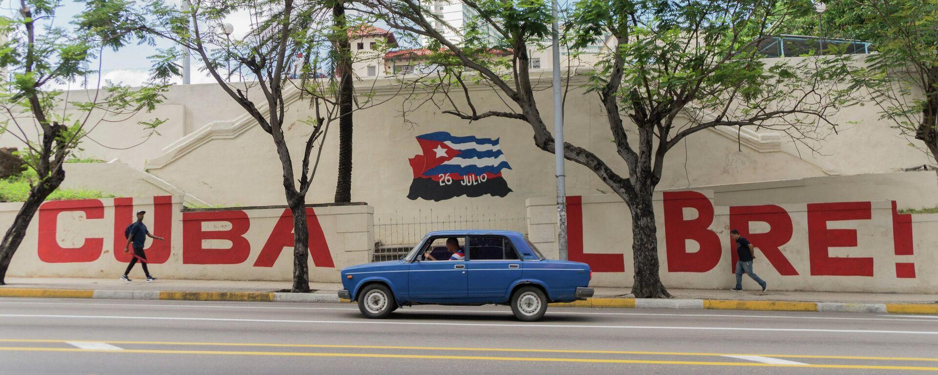 Mural 'Cuba libre' en las calles de La Habana - Sputnik Mundo, 1920, 26.03.2021