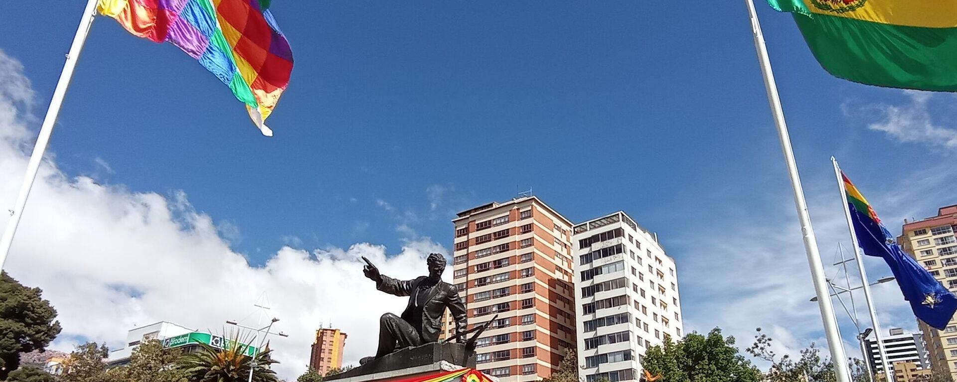 Acto en conmemoración al Día del Mar en Bolivia - Sputnik Mundo, 1920, 24.03.2021