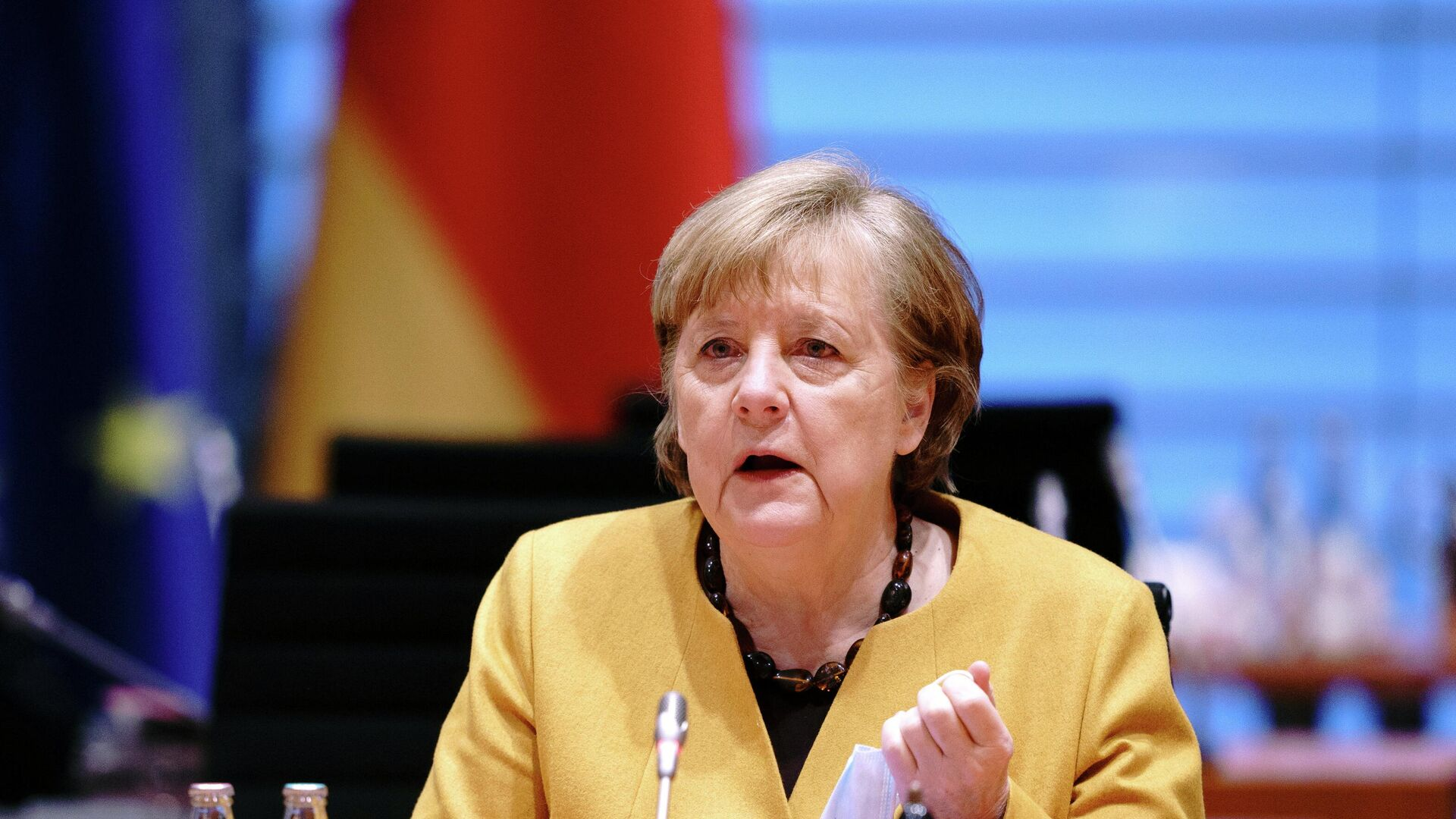 Angela Merkel, canciller alemana - Sputnik Mundo, 1920, 20.04.2021