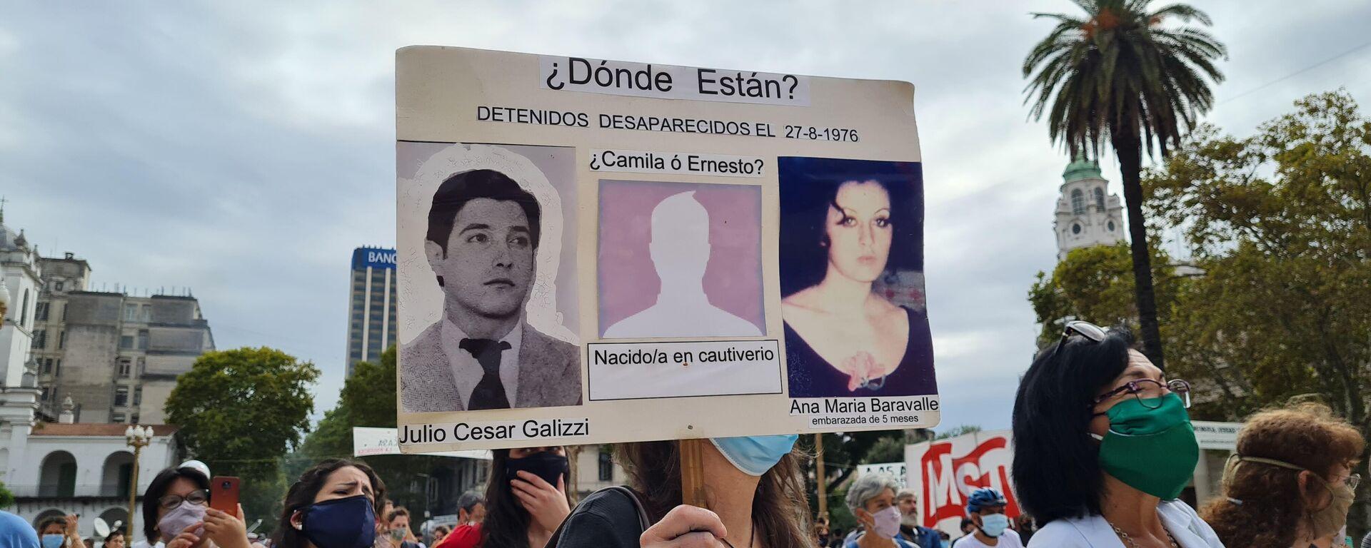 La Mesa de Encuentro Memoria, Verdad y Justicia realizó un evento especial en la Plaza de Mayo - Sputnik Mundo, 1920, 24.03.2021