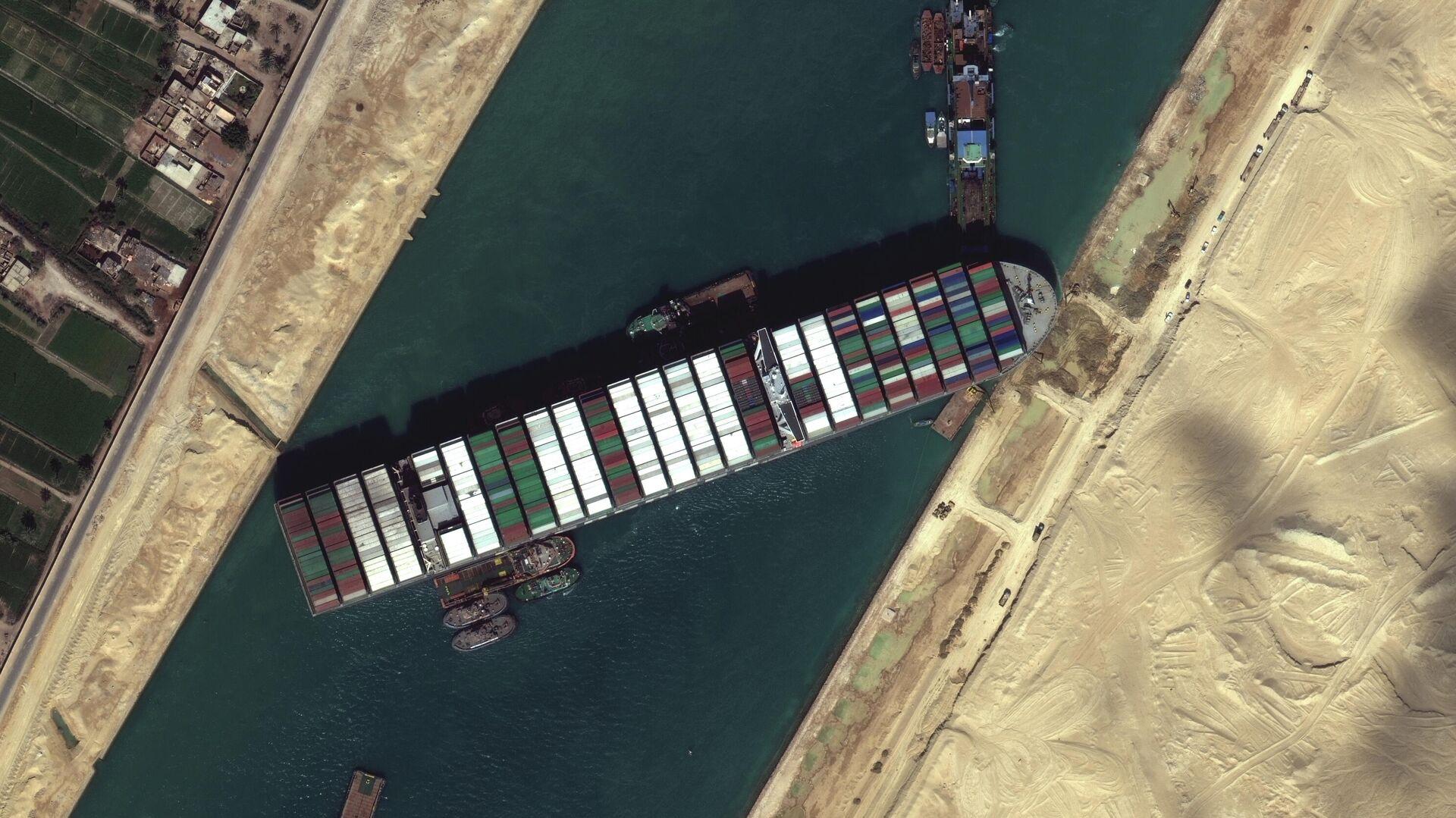 El portacontenedores Ever Given atascado en el Canal de Suez - Sputnik Mundo, 1920, 31.03.2021