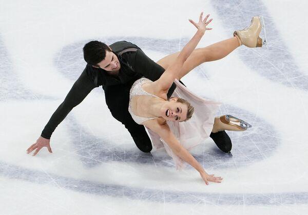 El segundo lugar de esta categoría fue para los estadounidenses Madison Hubbell y Zachary Donohue. - Sputnik Mundo