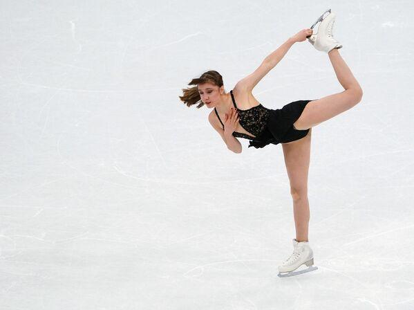 Esta es la primera vez que el podio está compuesto en su totalidad por patinadoras rusas.   - Sputnik Mundo