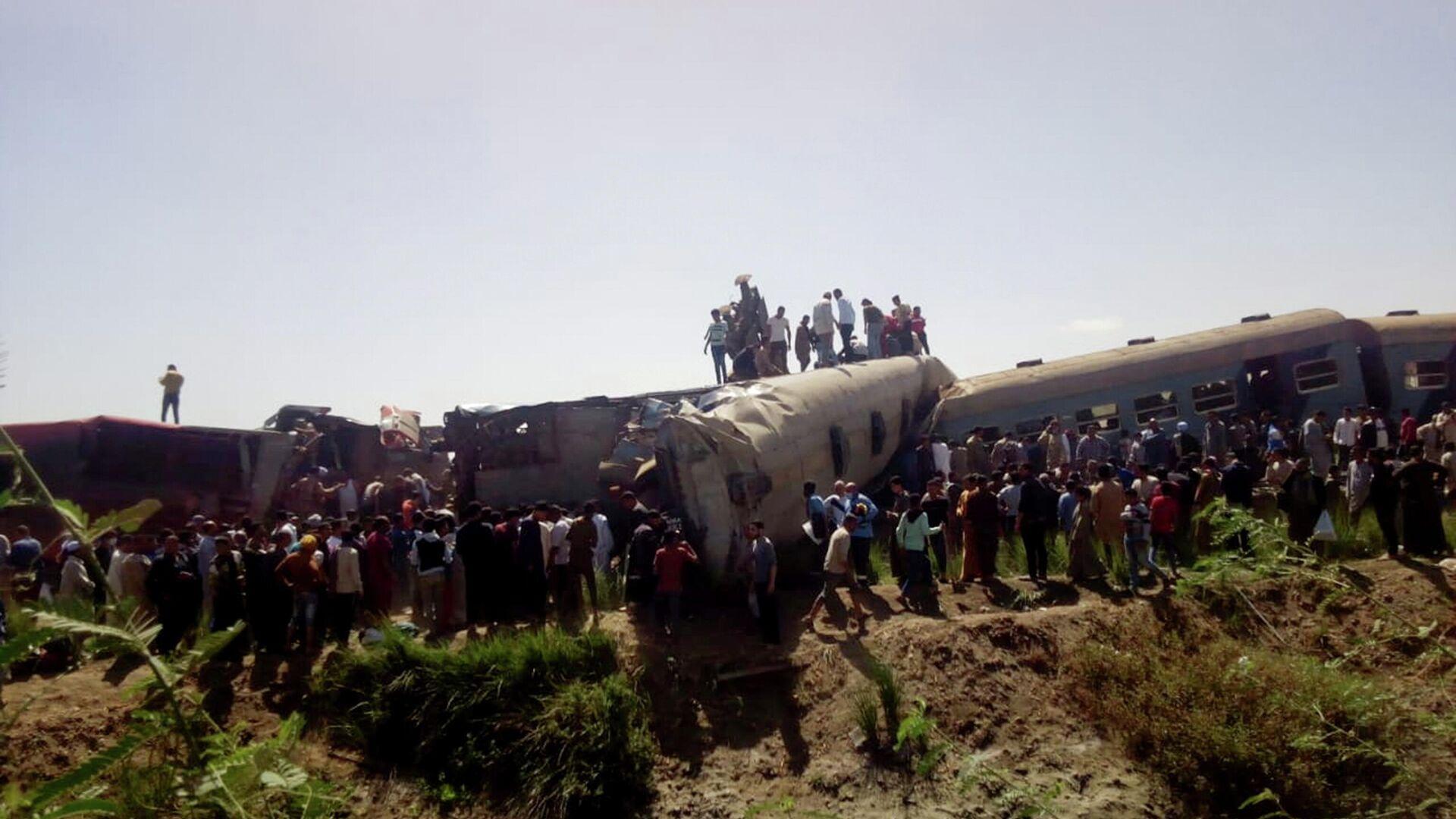 Choque de 2 trenes en Egipto, el 26 de marzo de 2021 - Sputnik Mundo, 1920, 29.03.2021