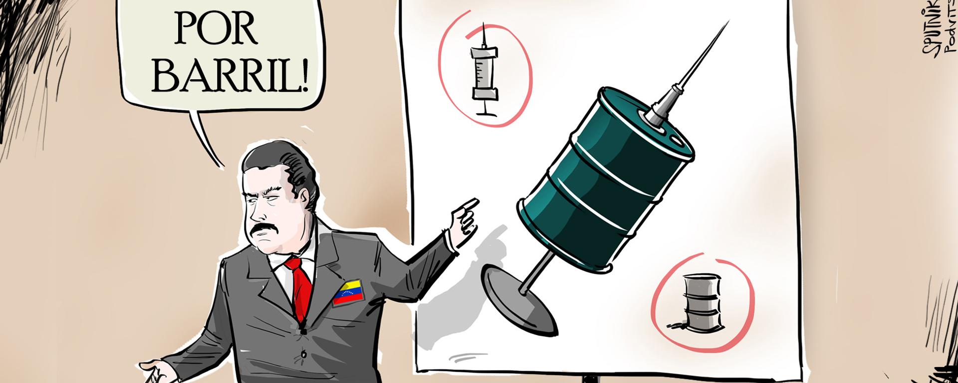 Barril por barril: Venezuela ofrece intercambiar vacunas por petróleo - Sputnik Mundo, 1920, 29.03.2021