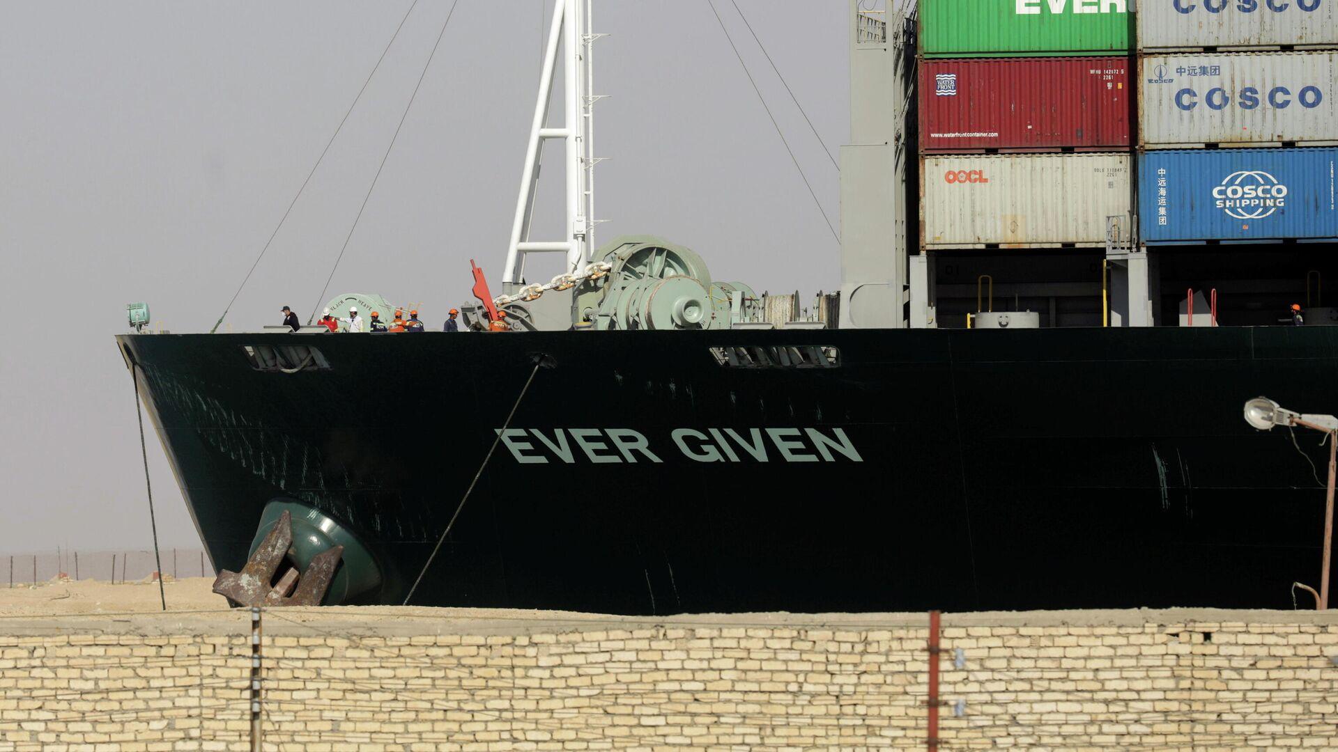El buque de carga Ever Given, encallado en el canal de Suez - Sputnik Mundo, 1920, 29.03.2021