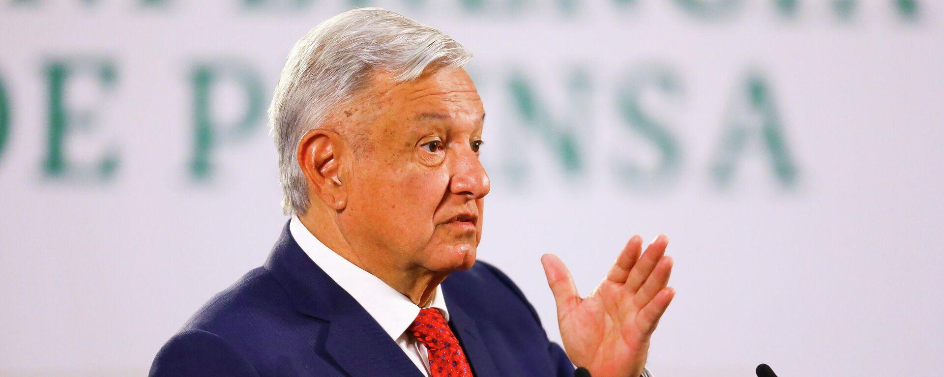 Andrés Manuel López Obrador, presidente de México - Sputnik Mundo, 1920, 14.04.2021