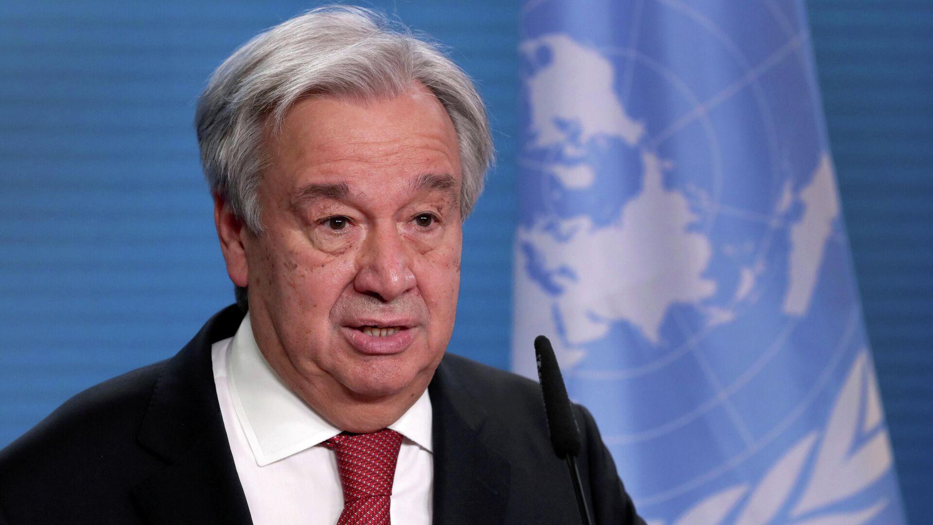 António Guterres, el secretario general de la Organización de Naciones Unidas (ONU) - Sputnik Mundo, 1920, 19.04.2021