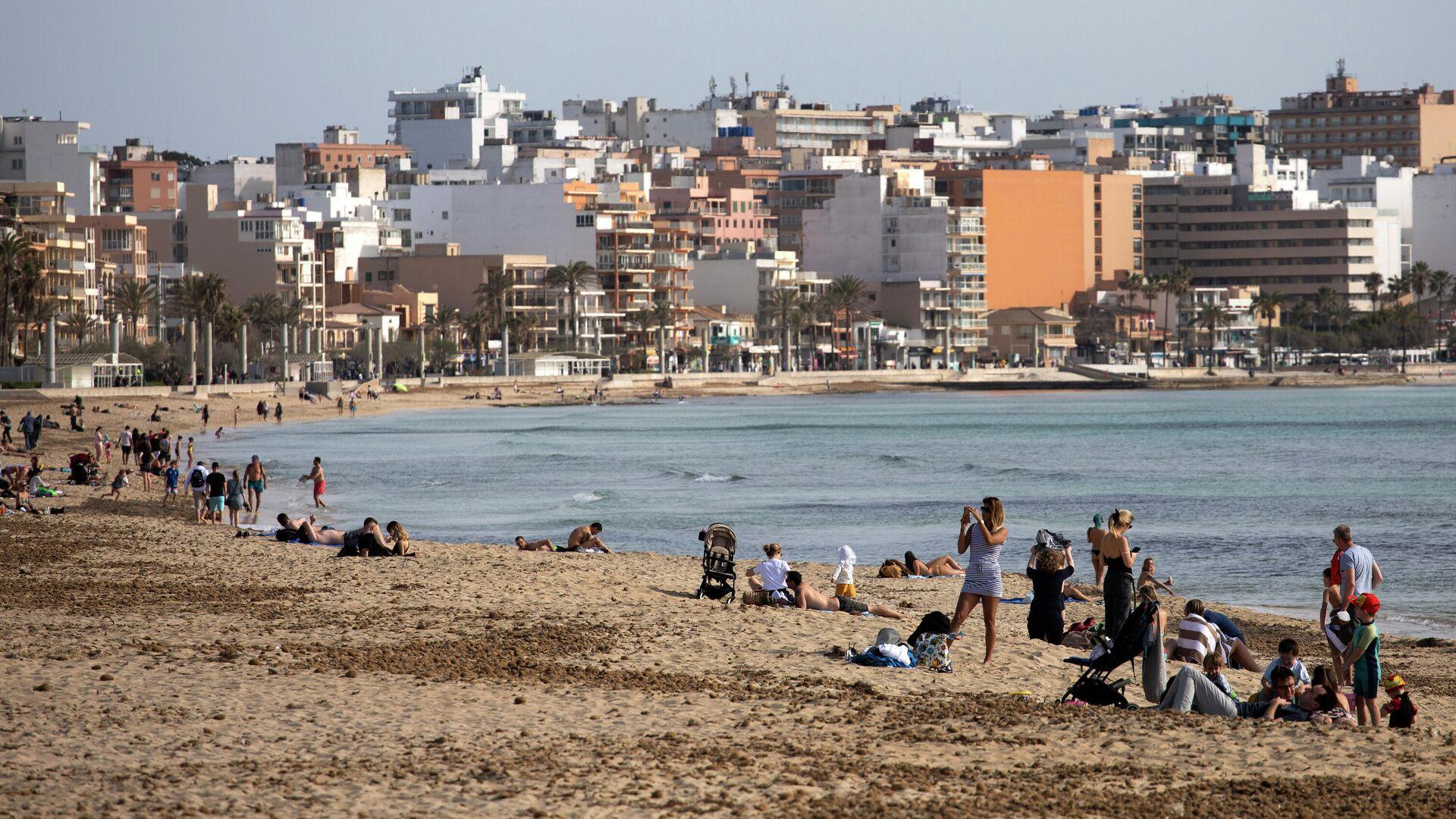Turistas en Mallorca en marzo de 2021 - Sputnik Mundo, 1920, 03.06.2021