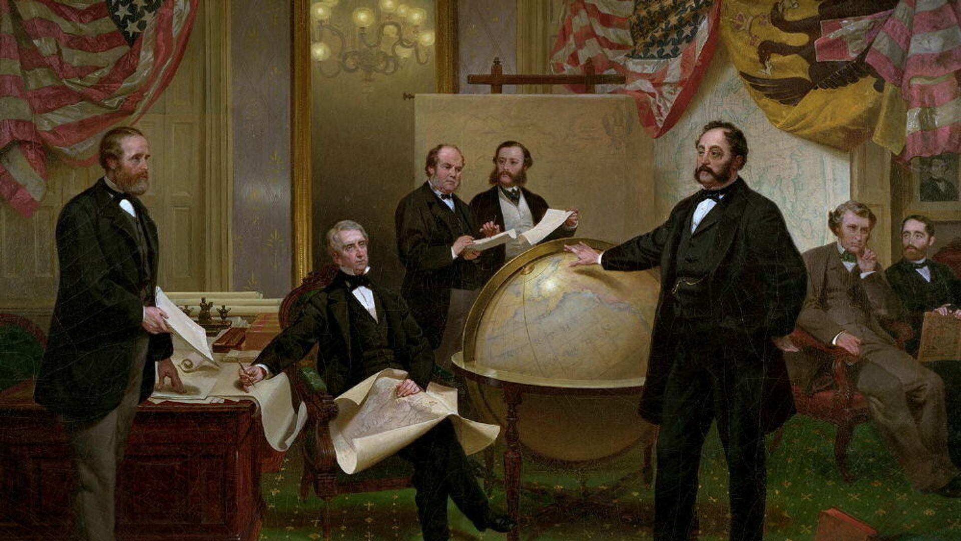 La firma del documento sobre la compra de Alaska - Sputnik Mundo, 1920, 30.03.2021