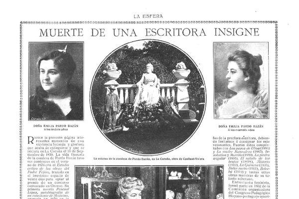 Portada de La Esfera el día de la muerte de Emilia Pardo Bazán - Sputnik Mundo
