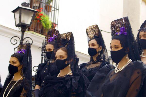 Desfile  'Sí, Mantilla' en Sevilla - Sputnik Mundo