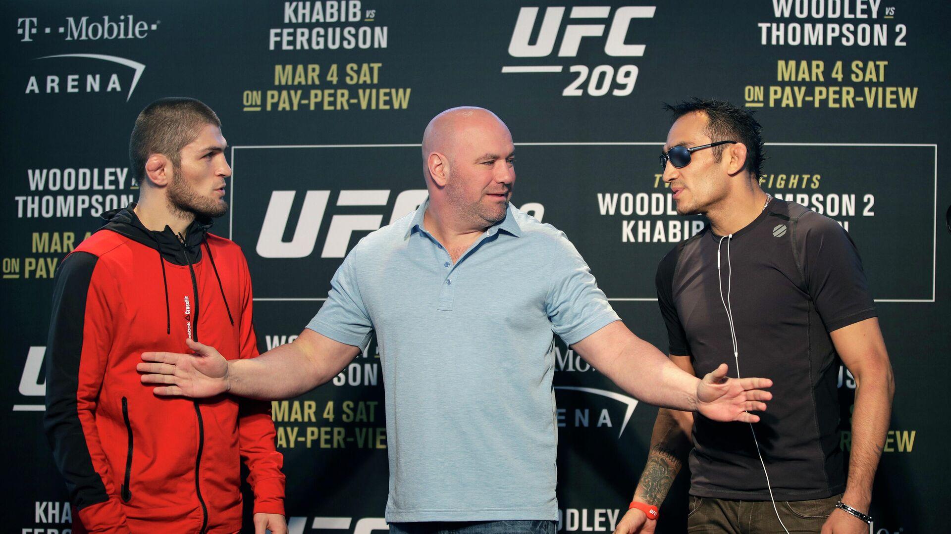 Khabib Nurmagomédov y Tony Ferguson antes de la UFC 209 - Sputnik Mundo, 1920, 31.03.2021