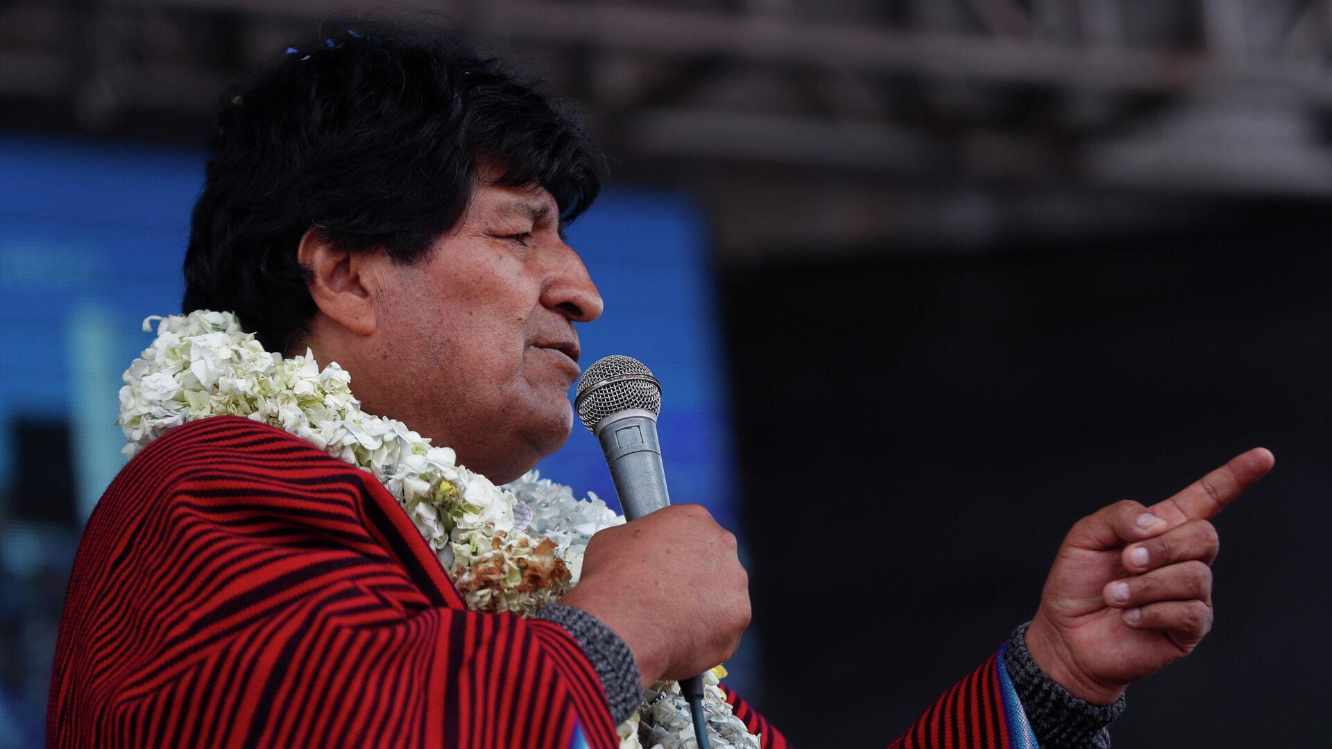 Evo Morales, expresidente de Bolivia - Sputnik Mundo, 1920, 10.06.2021