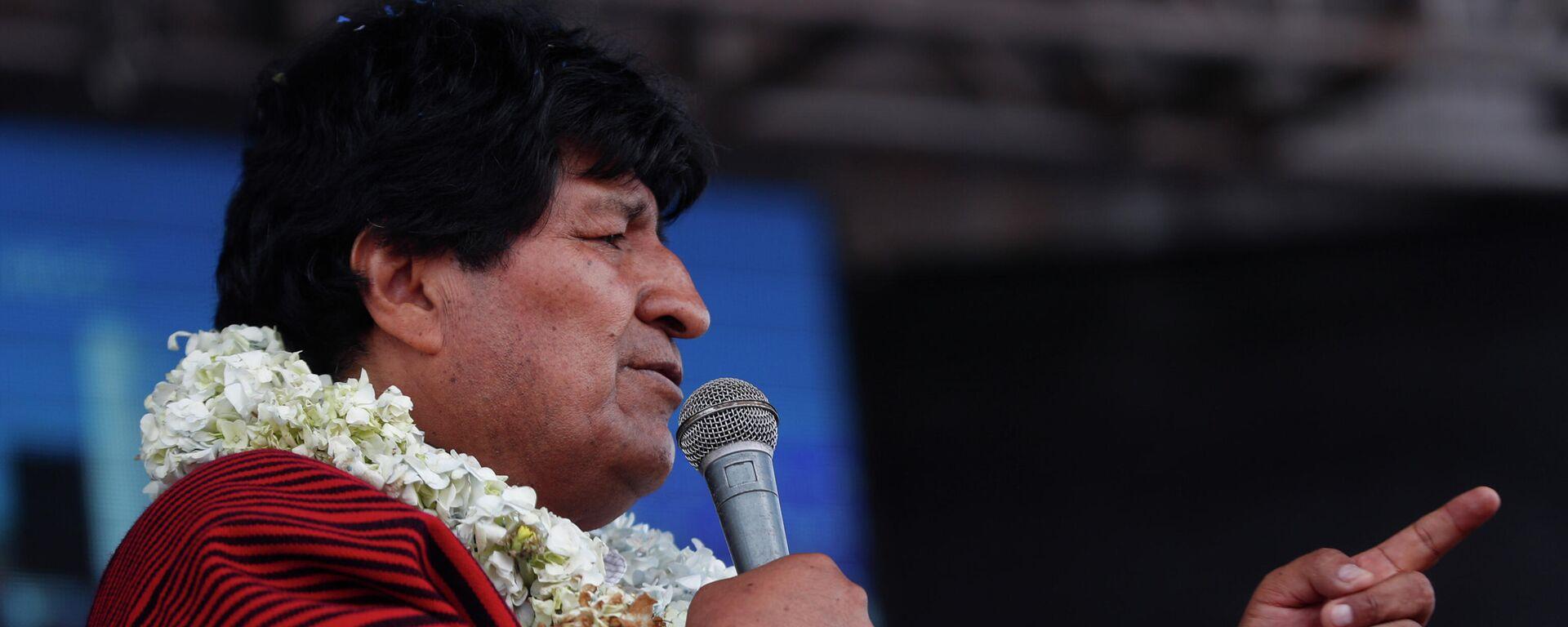 Evo Morales, expresidente de Bolivia - Sputnik Mundo, 1920, 13.04.2021