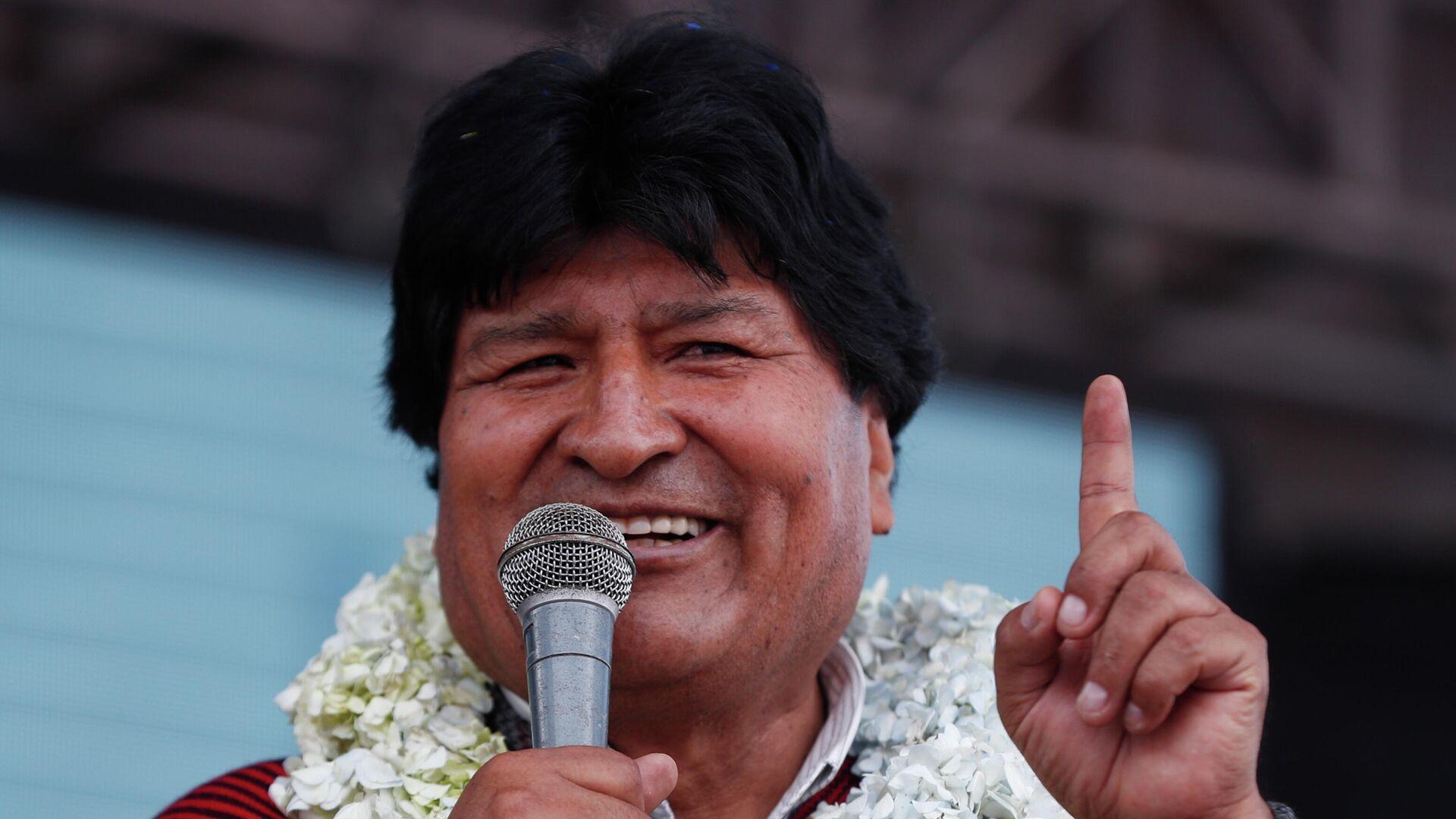 Evo Morales, expresidente de Bolivia - Sputnik Mundo, 1920, 08.06.2021