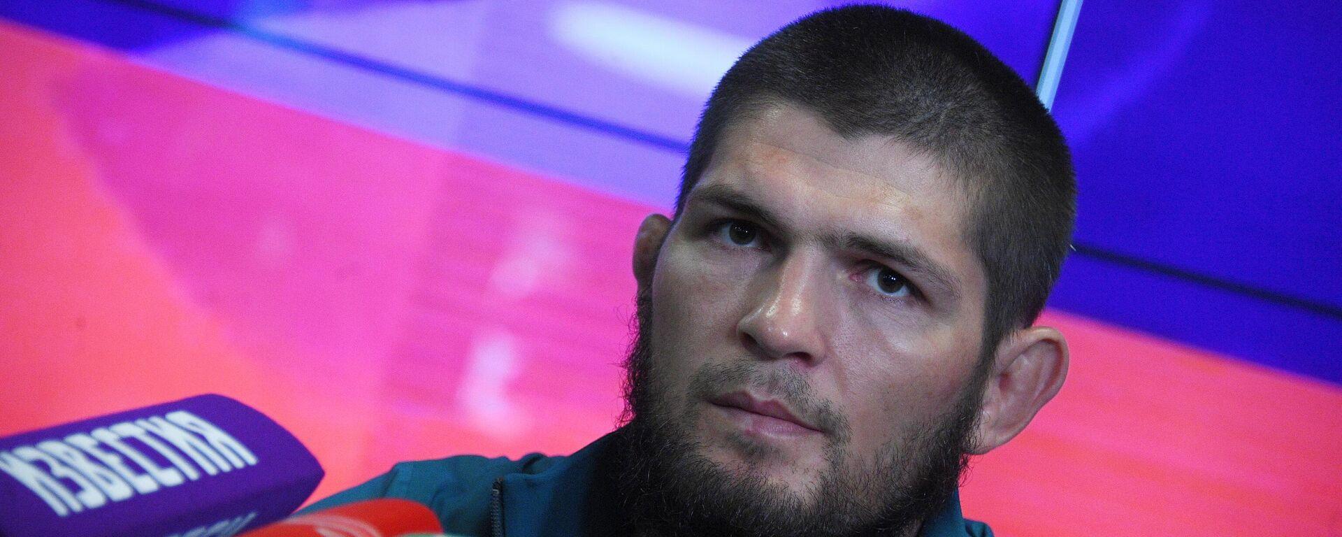 El luchador ruso de artes marciales mixtas (MMA) Khabib Nurmagomédov - Sputnik Mundo, 1920, 01.04.2021