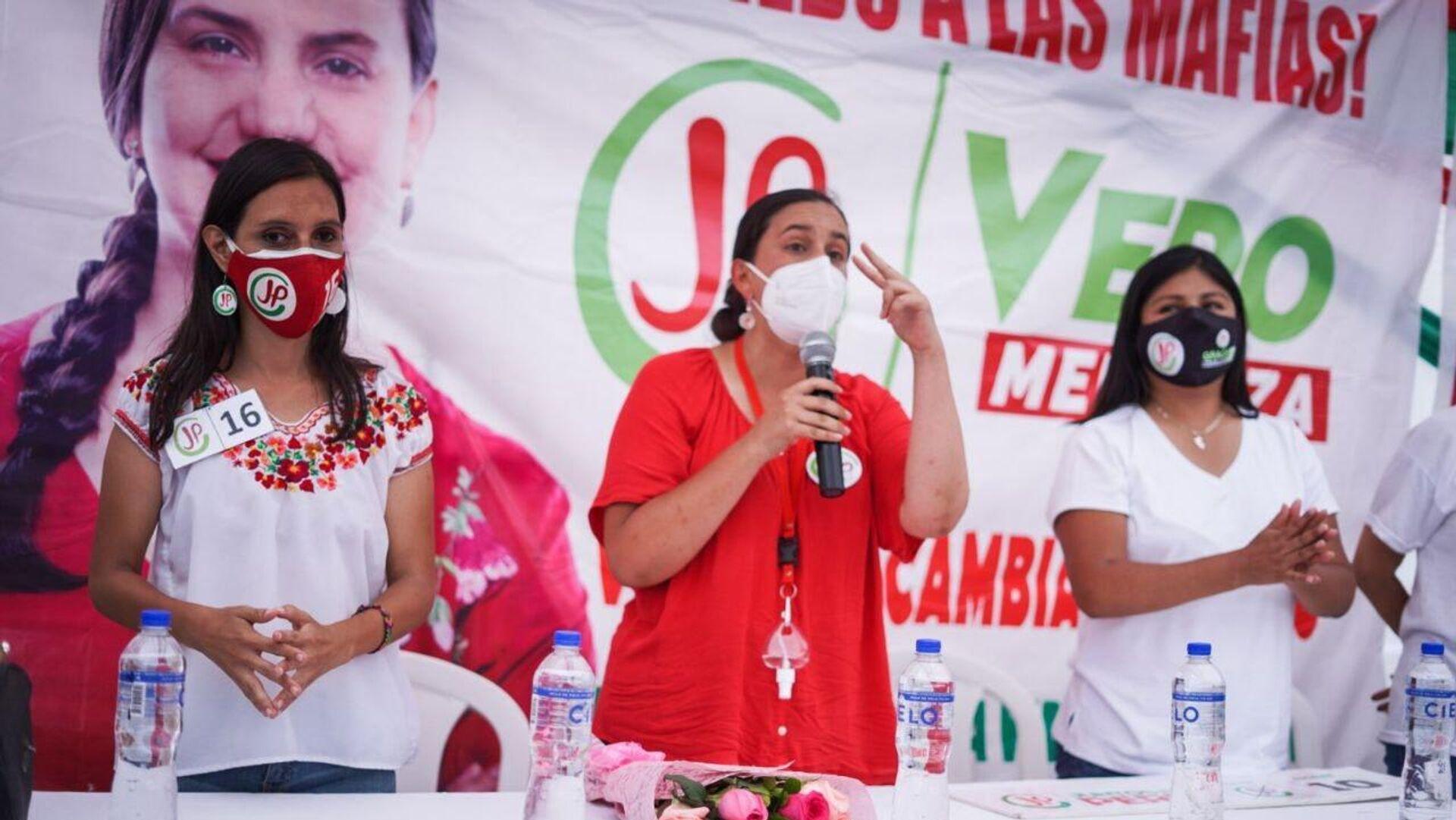 Verónika Mendoza, candidata a la presidencia del Perú por la coalición Juntos por el Perú  - Sputnik Mundo, 1920, 01.04.2021
